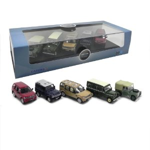 5 PIECE LAND ROVER SET 1/76 OXFORD 76SET32