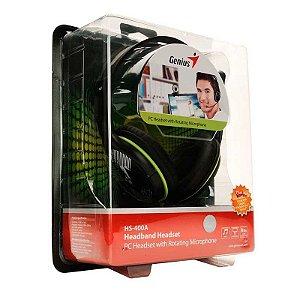 Headset Genius HS-400A Preto com fio - PC