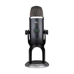 Microfone Condensador USB Blue Yeti X Blackout - PC