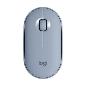 Mouse Logitech Pebble M350 Azul 1000dpi sem fio