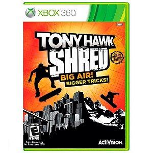 Jogo Tony Hawk Shred Big Air! Bigger Tricks! - Xbox 360