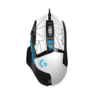 Mouse Gamer Logitech G502 Hero K/DA Edition RGB 25.600 DPI com fio