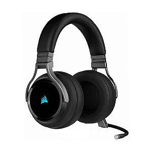 Headset Gamer Corsair Virtuoso RGB Wireless Carbon - PC e PS4