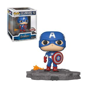 Boneco Captain America 589 Avengers Deluxe (Special Edition) - Funko Pop!