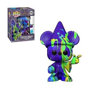 Boneco Sorcerer Mickey 15 Fantasia (Art Series) - Funko Pop!