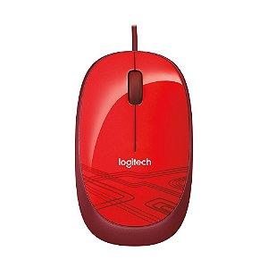 Mouse Logitech M105 Vermelho 1.000 DPI com fio