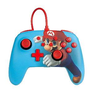 Controle com fio PowerA Mario Punch 1518605-01 - Switch