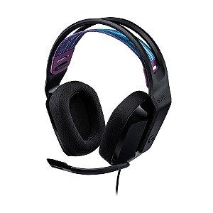 Headset Gamer Logitech G335 Preto 981-000977 com fio - Multiplataforma