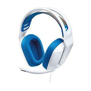 Headset Gamer Logitech G335 Branco 981-001017 com fio - Multiplataforma
