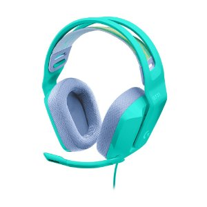 Headset Gamer Logitech G335 Mint 981-001023 com fio - Multiplataforma
