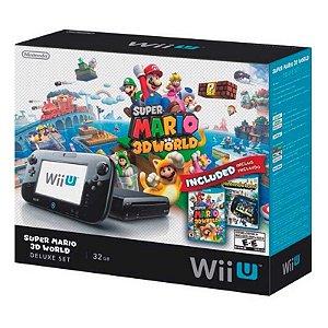 Console Nintendo Wii U Deluxe Set 32GB: Edição Especial Mario 3D World + Jogo Nintendo Land - Nintendo