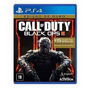 Jogo Call of Duty: Black Ops 3 - COD BO3 (Gold Edition - Edição de Ouro) - PS4