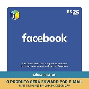 Cartão Presente Facebook R$25