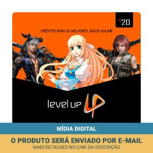 Cartão Presente Level Up R$20