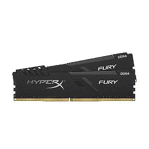 Memória Gamer HyperX Fury 16GB (2x8GB) 2400MHz DDR4 Preto HX426C16FB3K2/16