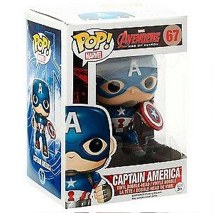 Boneco Captain America 67 Avengers - Funko Pop