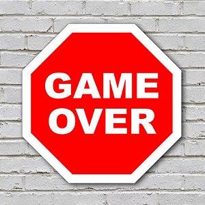 Placa de Parede Decorativa: Game Over - ShopB