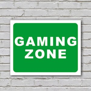 Placa de Parede Decorativa: Gaming Zone - ShopB