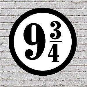 Placa de Parede Decorativa: Plataforma 9 3/4 - ShopB