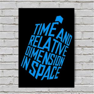 Placa De Parede Decorativa: Time And Relative Dimension In Space - Shopb
