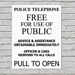 Placa De Parede Decorativa: Police Call Box - ShopB