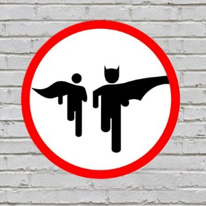 Placa De Parede Decorativa: Bat Run - ShopB