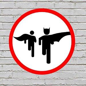 Placa De Parede Decorativa: Bat Run