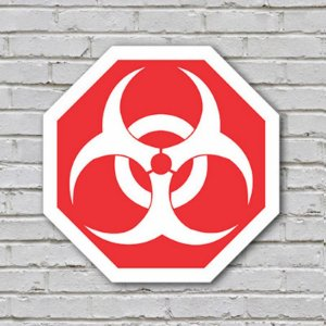 Placa De Parede Decorativa: Biohazard - ShopB