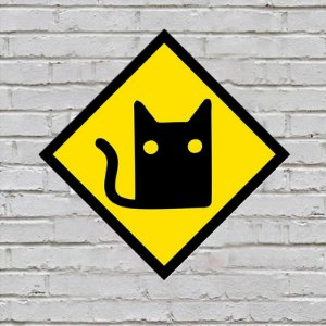Placa de Parede Decorativa: Cat