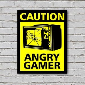 Placa de Parede Decorativa: Angry Gamer - ShopB