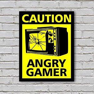 Placa de Parede Decorativa: Angry Gamer - ShopB