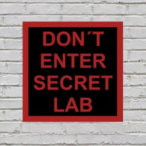 Placa de Parede Decorativa: Secret Lab - ShopB
