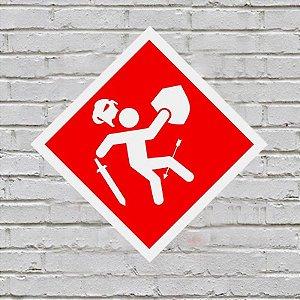 Placa de Parede Decorativa: Flecha no Joelho - ShopB