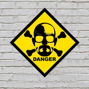 Placa de Parede Decorativa: Danger Heisenberg - ShopB