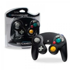 Controle Gamecube Hyper Mega Preto com fio - Wii e GC