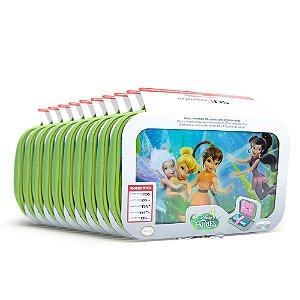 Kit Cases de Transporte Verde Disney Princess (10 Unidades) - Nintendo 3DS, 3DS XL, DSi e DS Lite