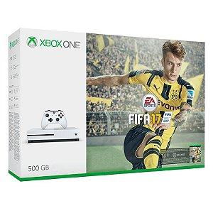 Console Xbox One S 500Gb + Jogo Fifa 17 (FIFA 2017) - Microsoft