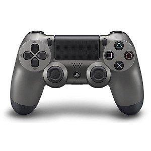 Controle Sony Dualshock 4 Steel Black sem fio - PS4