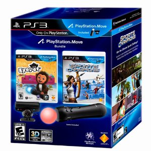 Kit PlayStation Move Bundle + 2 Jogos - PS3