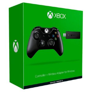Controle Microsoft Black Piano + Adaptador sem fio para Windows - Xbox One