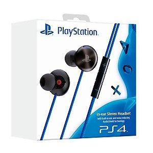 Fone de Ouvido Sony In-Ear Stereo Headset - PS4 / PS Vita