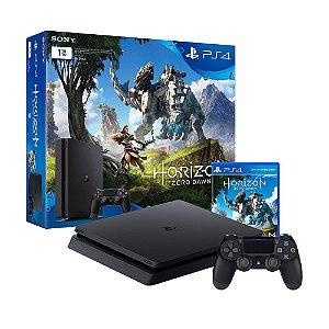 Console PlayStation 4 Slim 1TB + Jogo Horizon Zero Dawn - Sony