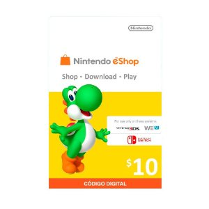 Cartão Presente $10 (dólares) eShop - Nintendo