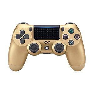 Controle Sony Dualshock 4 Gold V2 sem fio (Com led frontal) - PS4