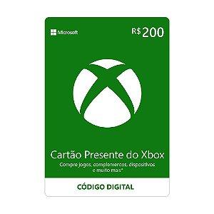 Cartão Presente R$200 Xbox Live Brasil - Microsoft