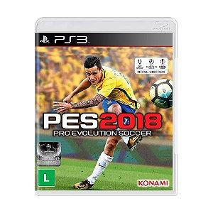 Jogo Pro Evolution Soccer 2018 (PES 2018) - PS3