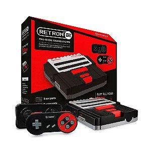 Console 2 em 1 Hyperkin Retron 2 Preto e Vermelho - NES e SNES