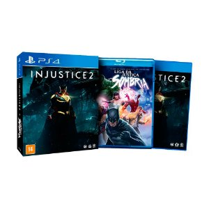 Jogo Injustice 2 + Filme Liga da Justiça Sombria - PS4