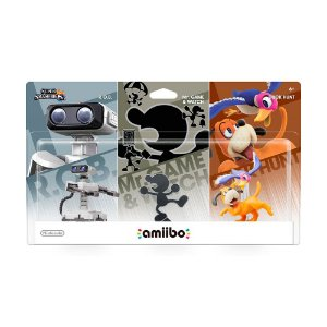 Nintendo Amiibo: R.O.B, Mr. Game & Watch e Duck Hunt - Super Smash Bros. - Wii U e New Nintendo 3DS
