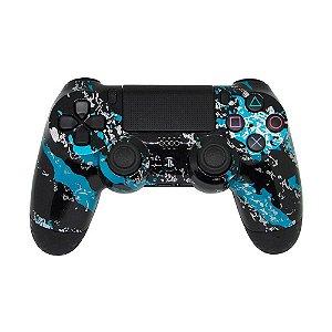 Controle Dualshock 4 Blue Splatter sem fio - Casual - PS4